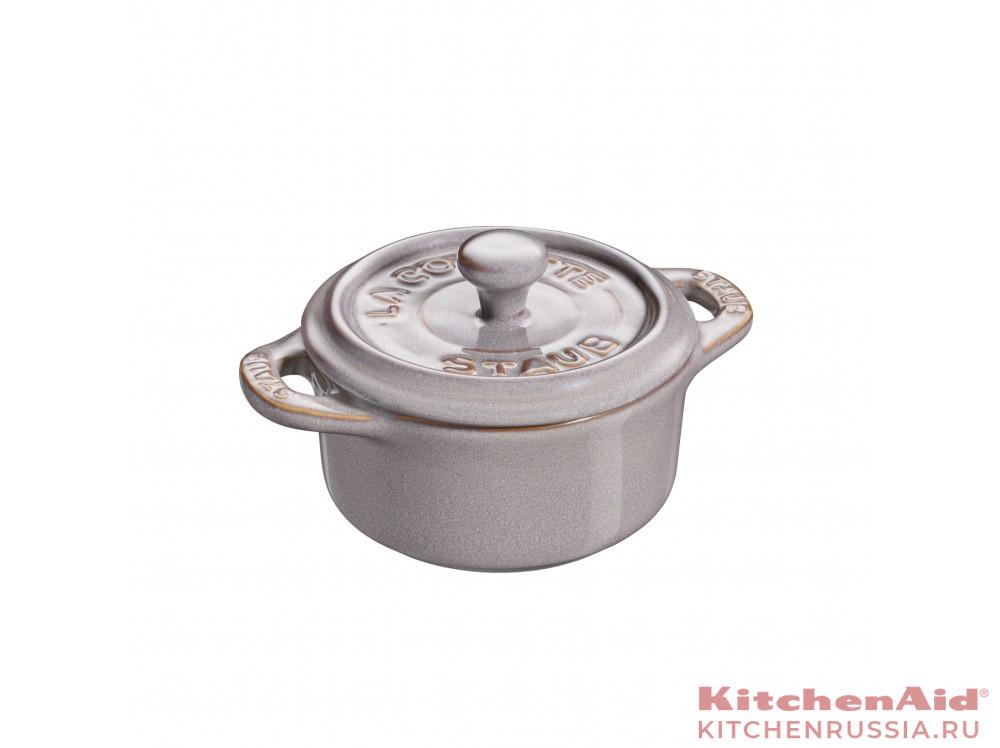круглый, 10 см, античный серый 40511-998 в фирменном магазине Staub