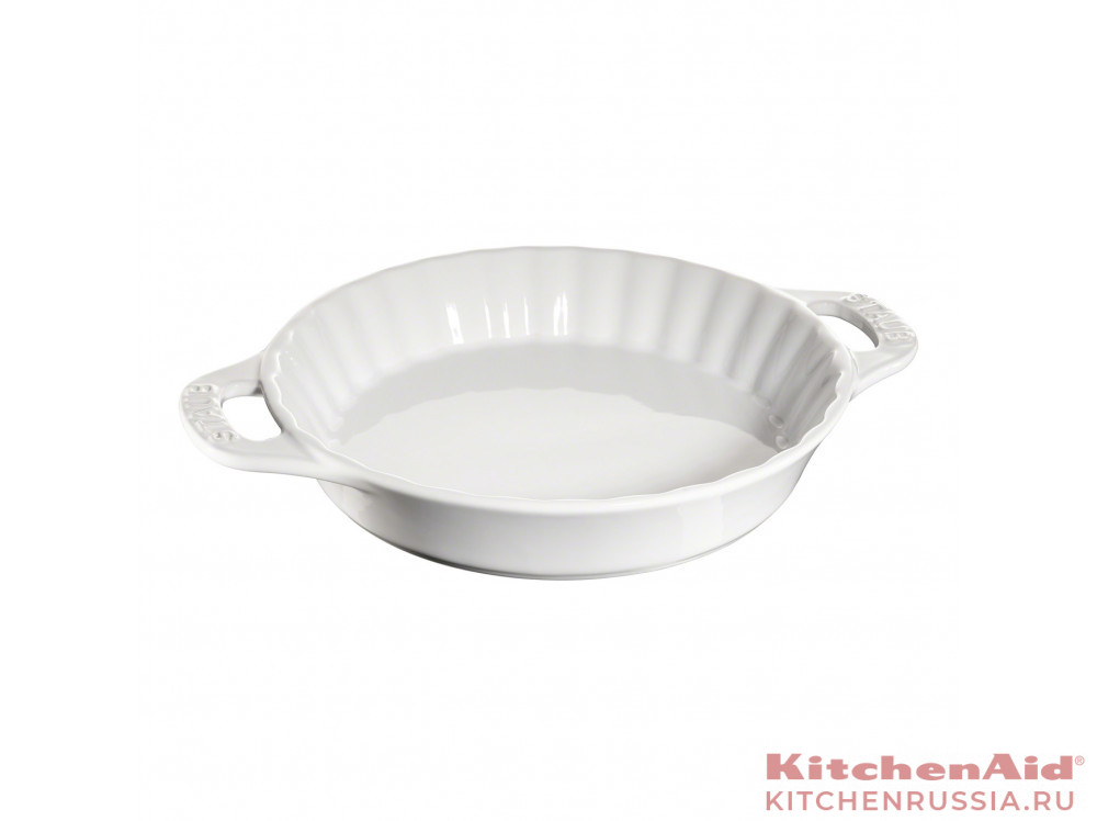 для пирога керамическая, 28 см, белая 40511-169 в фирменном магазине Staub