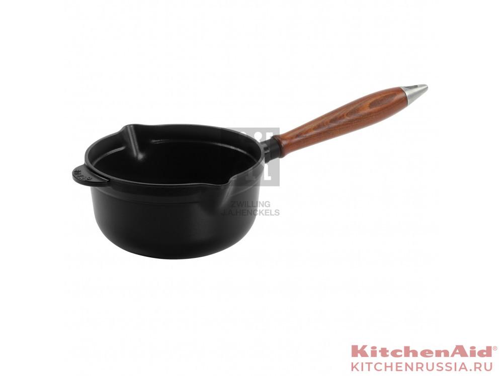 Винтаж, с деревянной ручкой, 18 см, черный 12441823 в фирменном магазине Staub