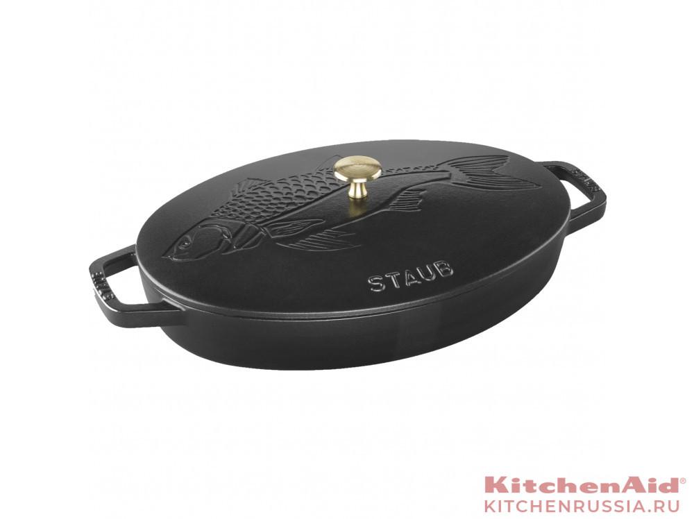 33 см, с чугунной крышкой, черная 11223323 в фирменном магазине Staub