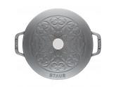 """Кокот Staub """"Лилия"""" 24 см, 3,6 л, серый графит"""