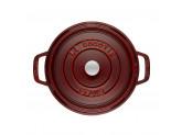 Кокот Staub круглый, 20 см, 2,2 л, гранатовый