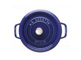 Кокот Staub круглый, 24 см, 3,8 л, темно-синий