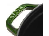 Кокот Staub круглый, 26 см, 5,2 л, зеленый базилик