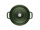 Кокот Staub круглый, 28 см, 6,7 л, зеленый базилик
