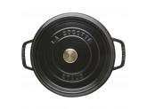 Кокот Staub круглый, 28 см, 6,7 л, черный