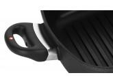 Алюминиевая сковорода-гриль с двумя ручками 28 х 28 см, Черная Swiss Diamond XD Classic+