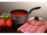 Набор алюминиевой посуды с алмазным покрытием из кастрюли, ковша и 2-х сковород с крышками и сотейника, Черный Swiss Diamond XD Classic+