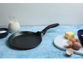 Алюминиевая блинная сковорода с алмазным покрытием 24 см, Черная, Swiss Diamond XD Classic+ Induction