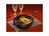 Алюминиевая сковорода-гриль с двумя ручками, 28 х 28 см, Черная Swiss Diamond XD Classic+ Induction
