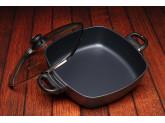 Набор алюминиевой посуды с алмазным покрытием из сотейника со стеклянной крышкой и сковороды, Черный Swiss Diamond XD Classic+ Induction