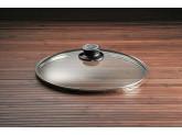 Стеклянная крышка круглая с ручкой из бакелита 32 см Swiss Diamond Lids