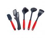 Кондитерская лопатка (шпатель), 25.4 cм, пластик/силикон, Красная Swiss Diamond Kitchen Tools