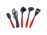 Кухонная лопатка с прорезями 33 cм Красная Swiss Diamond Kitchen Tools