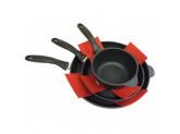 Набор защит для посуды, 5 шт, синтетическая ткань, Красный Swiss Diamond Kitchen Tools