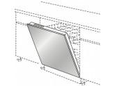 Стальной фасад с ручкой штангой KitchenAid KAECX 00000 Нержавеющая сталь