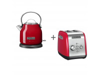 Набор завтрак KitchenAid чайник 5KEK1222EER + тостер 5KMT221EER Красный