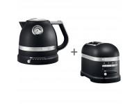 Набор завтрак KitchenAid чайник 5KEK1522EBK + тостер 5KMT2204EBK Чугун