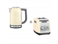 Набор завтрак KitchenAid чайник 5KEK1722EAC + тостер 5KMT221EAC, Кремовый