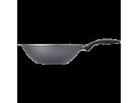 Сковорода-вок из алюминия с алмазным покрытием, с длинной ручкой и крышкой, 30 см, Черная Swiss Diamond XD Classic+