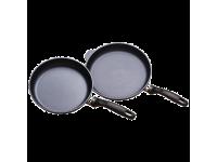 Набор из 2-х алюминиевых сковород с алмазным покрытием, 24 см и 28 см, Черный Swiss Diamond XD Classic+ Induction