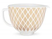 Чаша керамическая KitchenAid 5KSM2CB5PGC Золотая хвоя