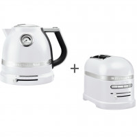 Набор завтрак KitchenAid чайник 5KEK1522EFP + тостер 5KMT2204EFP Морозный жемчуг