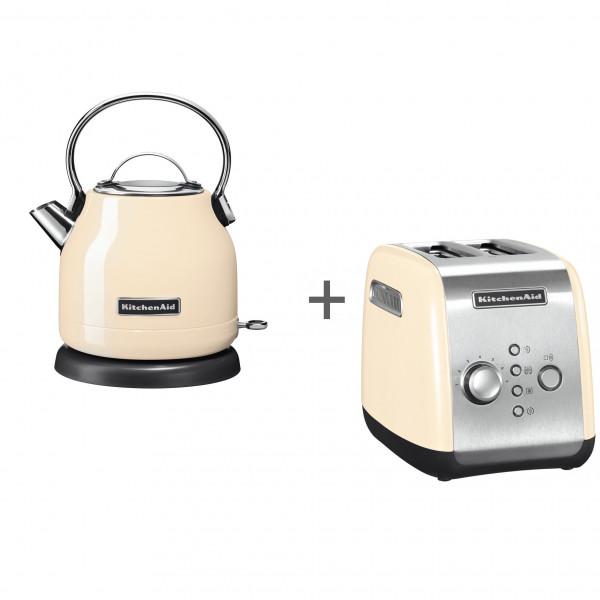 Набор завтрак KitchenAid чайник 5KEK1222EAC + тостер 5KMT221EAC Кремовый