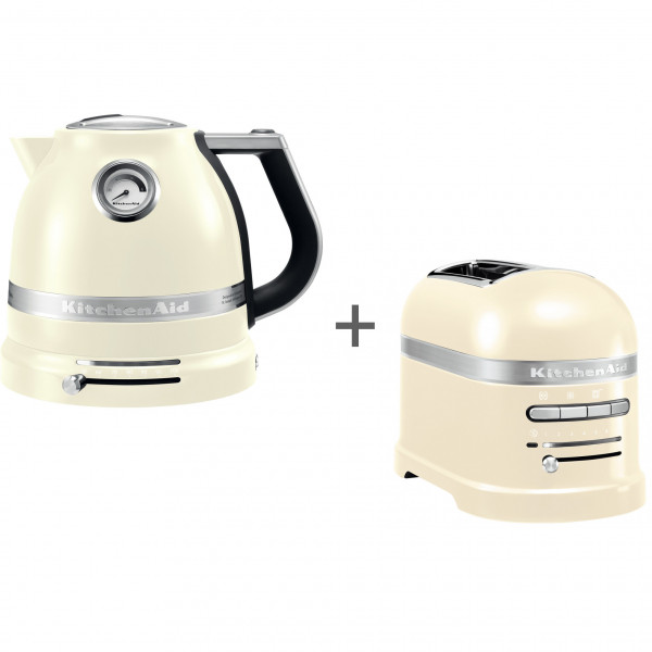 Набор завтрак KitchenAid чайник 5KEK1522EAC + тостер 5KMT2204EAC Кремовый