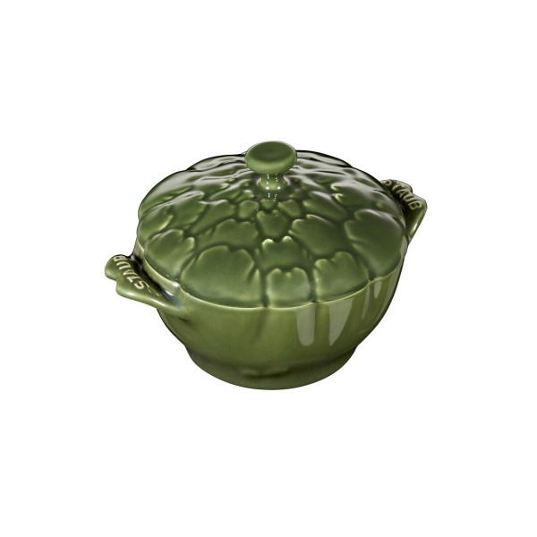 "Кокот  Staub ""Артишок"", 12,5 см, темно-зеленый"