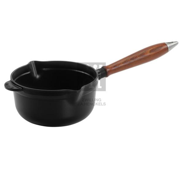 Ковш Staub Винтаж, с деревянной ручкой, 18 см, черный