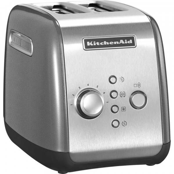 Тостер KitchenAid 5KMT221ECU Серебристый по контуру