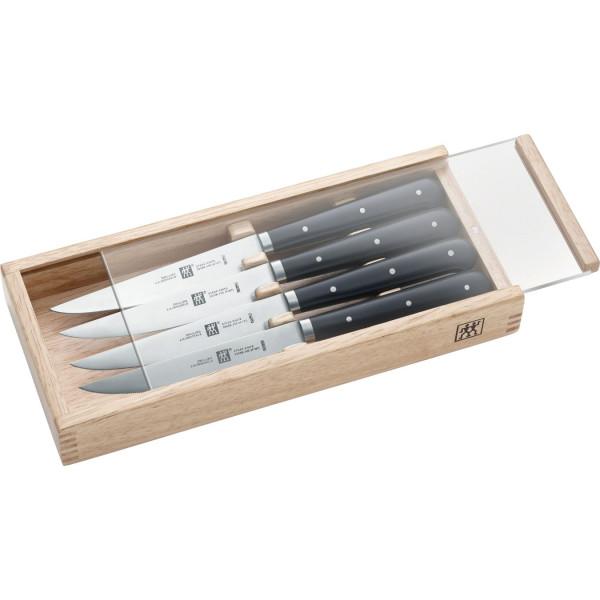 Набор стейковых ножей 4 пр. в деревянной коробке ZWILLING